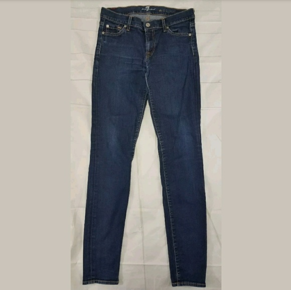 7 For All Mankind Denim - 7 For All Mankind The Skinny Jeans Size 28